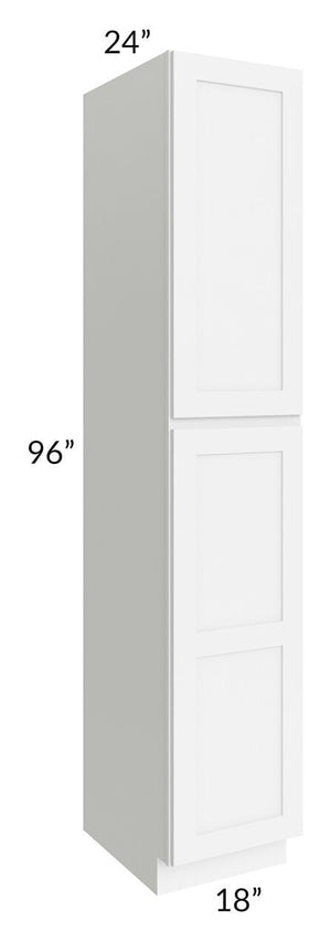 Brilliant White Shaker 18x96x24 Wall Pantry Cabinet