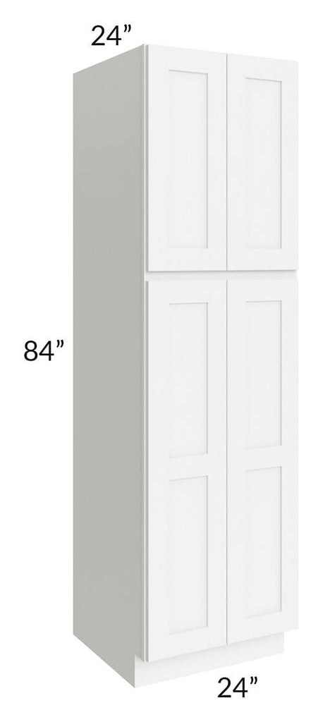 Brilliant White Shaker 24x84x24 Wall Pantry Cabinet