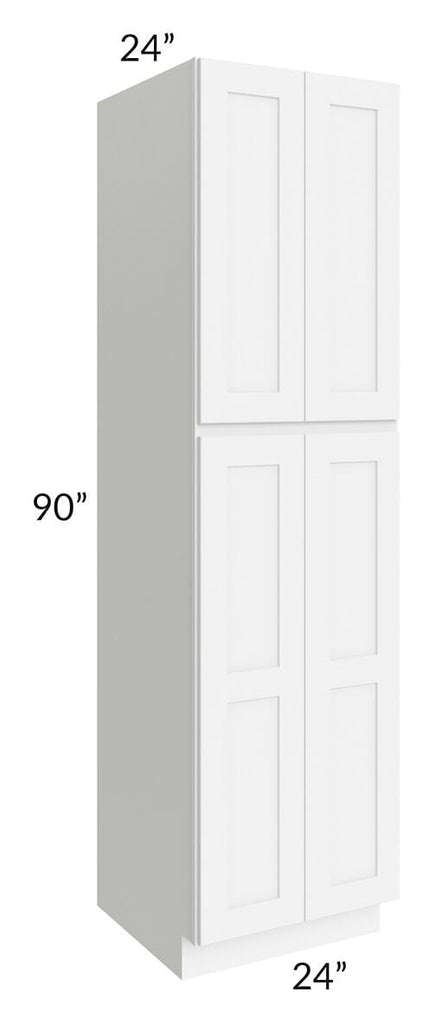 Brilliant White Shaker 24x90x24 Wall Pantry Cabinet