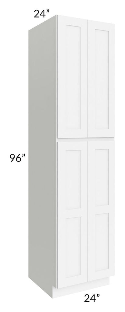 Brilliant White Shaker 24x96x24 Wall Pantry Cabinet