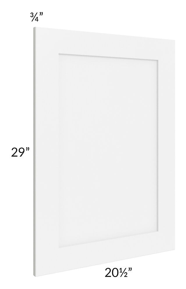Brilliant White Shaker Vanity Decorative End Panel