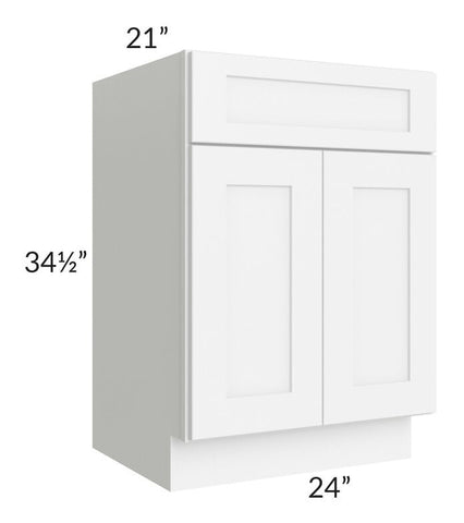 "Brilliant White Shaker 24"" Vanity Base Cabinet"