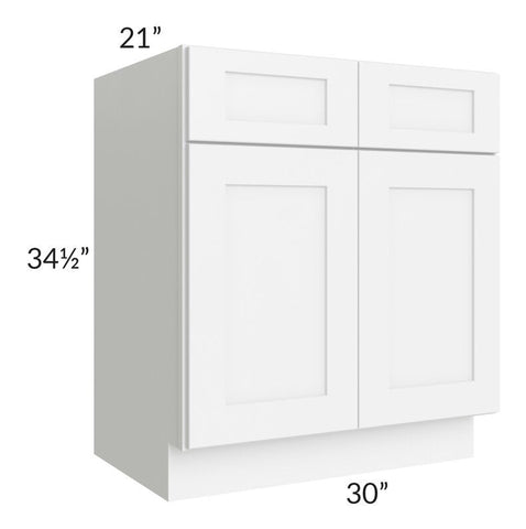 "Brilliant White Shaker 30"" Vanity Base Cabinet"