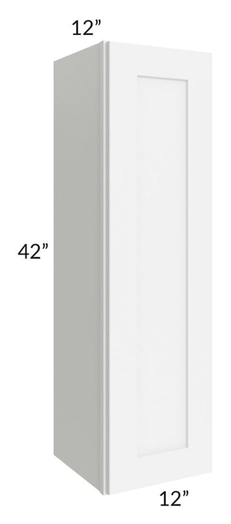 Brilliant White Shaker 12x42 Wall Cabinet