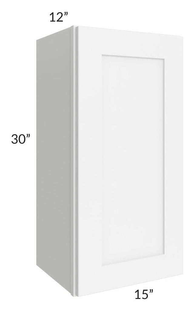 Brilliant White Shaker 15x30 Wall Cabinet