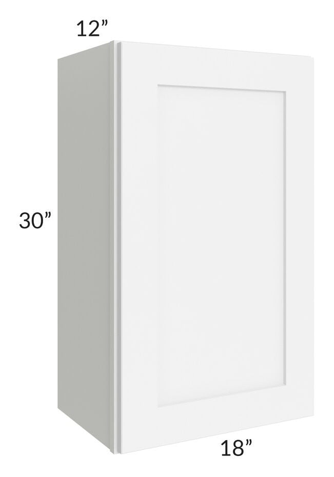 Brilliant White Shaker 18x30 Wall Cabinet
