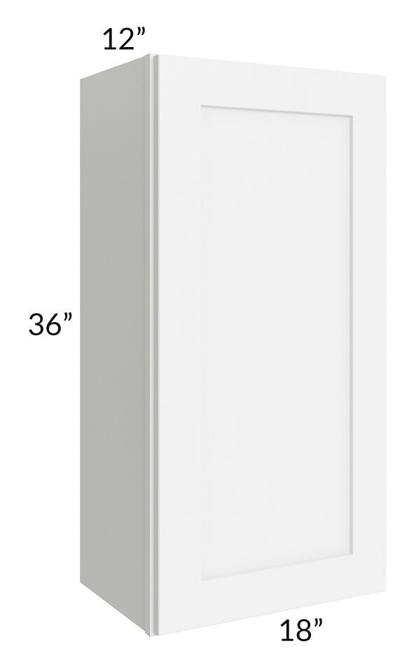 Brilliant White Shaker 18x36 Wall Cabinet