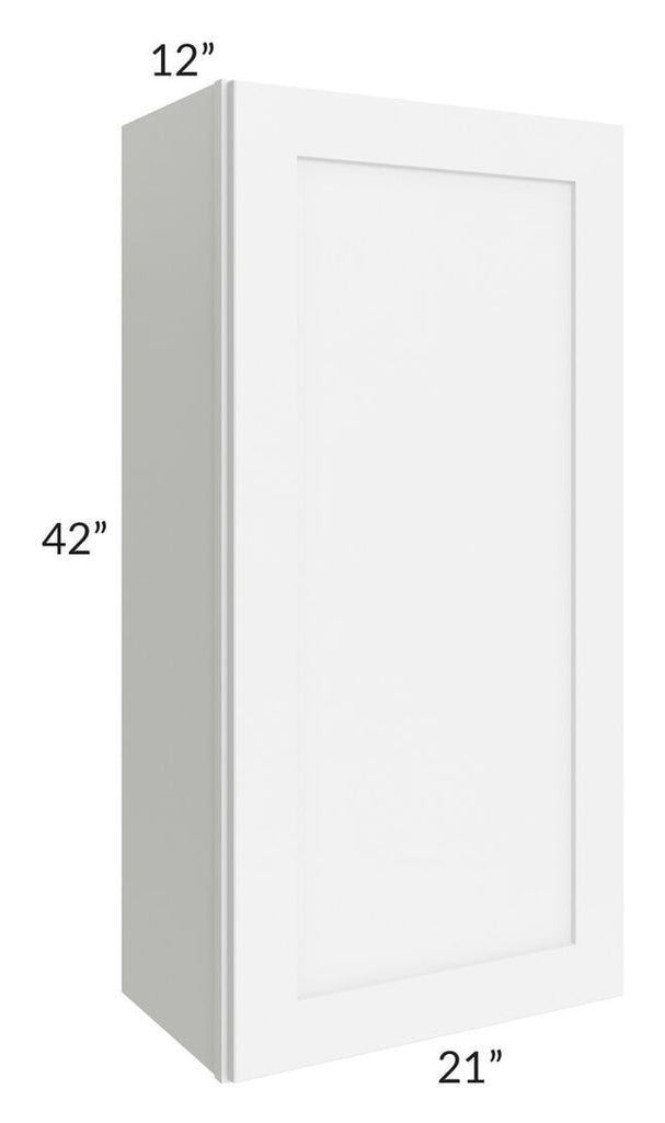 Brilliant White Shaker 21x42 Wall Cabinet