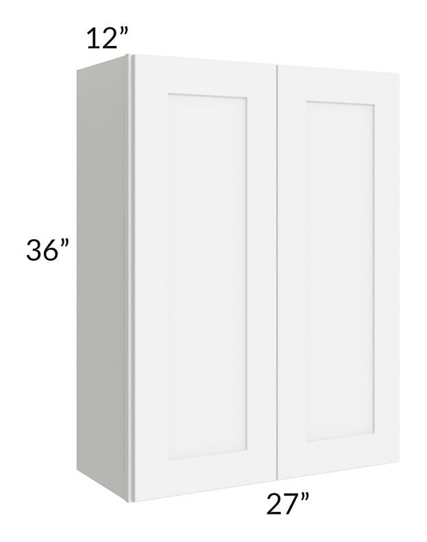 Brilliant White Shaker 27x36 Wall Cabinet