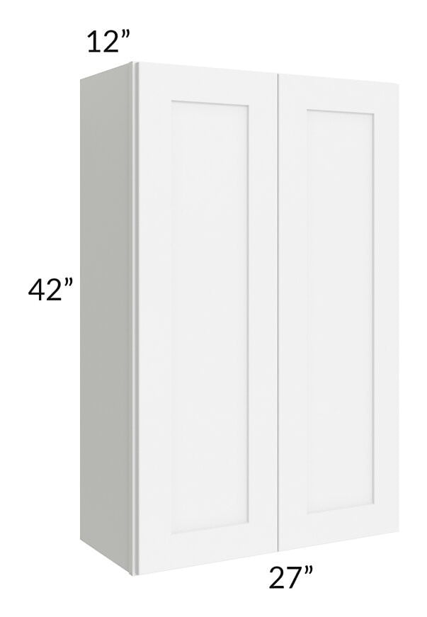 Brilliant White Shaker 27x42 Wall Cabinet