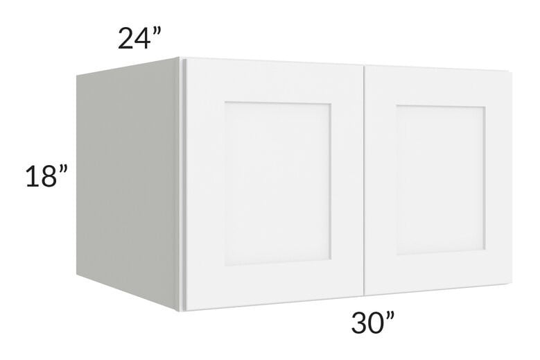Brilliant White Shaker 30x18x24 Wall Cabinet