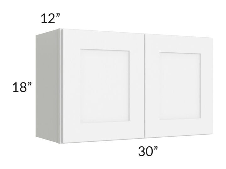 Brilliant White Shaker 30x18 Wall Cabinet