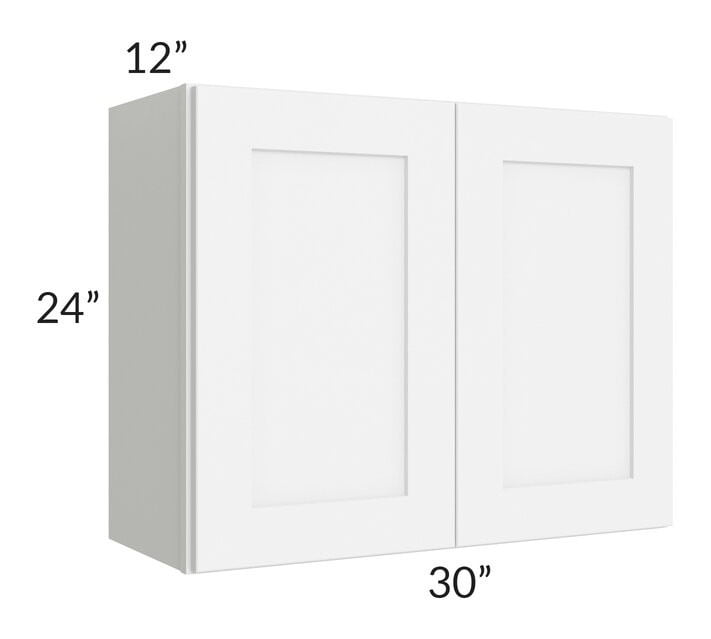 Brilliant White Shaker 30x24 Wall Cabinet