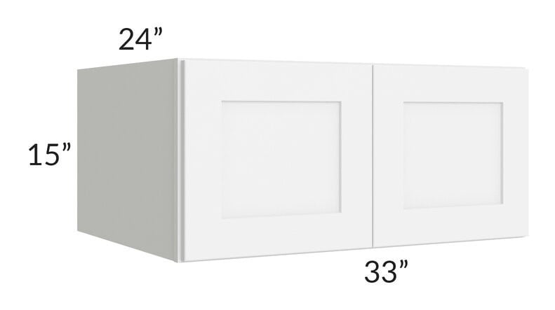 Brilliant White Shaker 33x15x24 Wall Cabinet