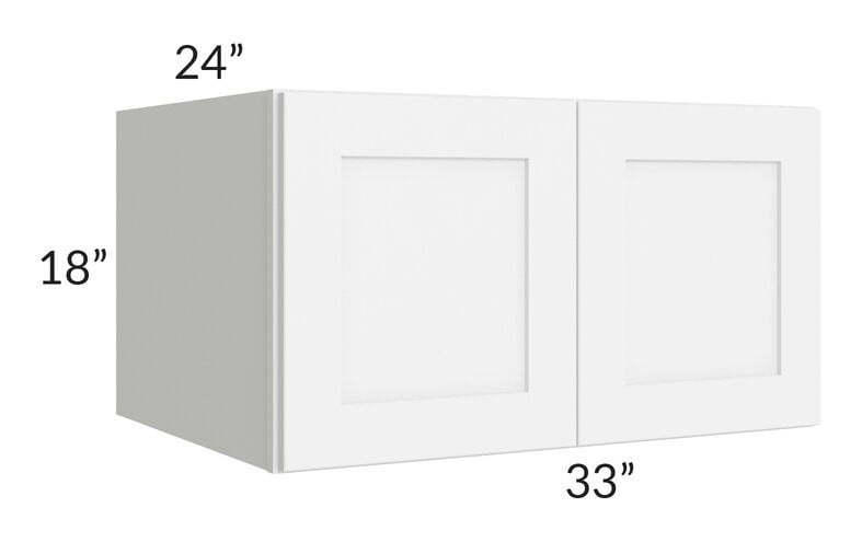 Brilliant White Shaker 33x18x24 Wall Cabinet