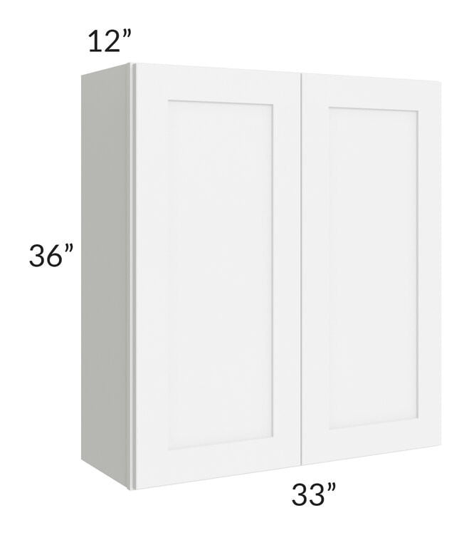 Brilliant White Shaker 33x36 Wall Cabinet