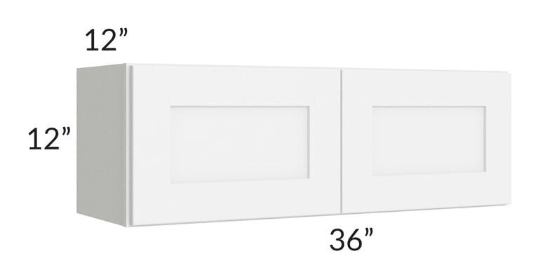 Brilliant White Shaker 36x12 Wall Cabinet