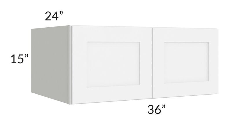 Brilliant White Shaker 36x15x24 Wall Cabinet