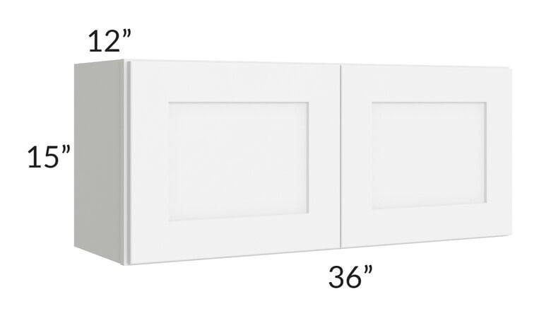 Brilliant White Shaker 36x15 Wall Cabinet