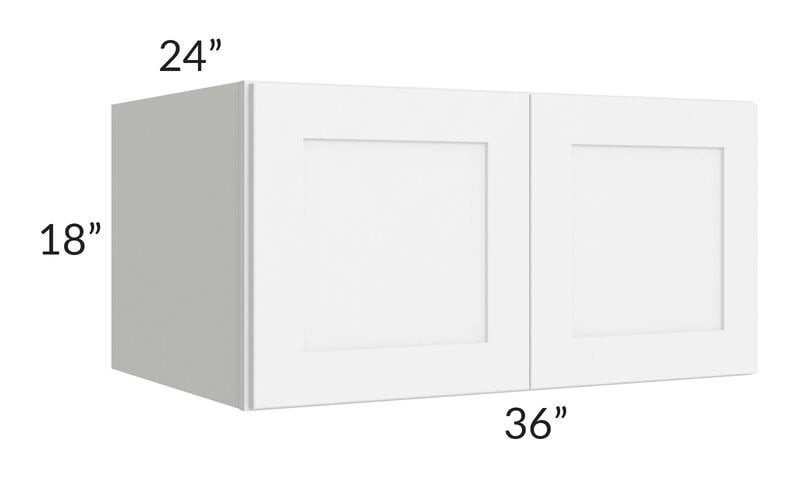 Brilliant White Shaker 36x18x24 Wall Cabinet