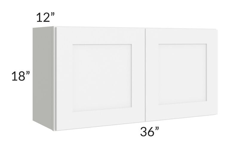 Brilliant White Shaker 36x18 Wall Cabinet
