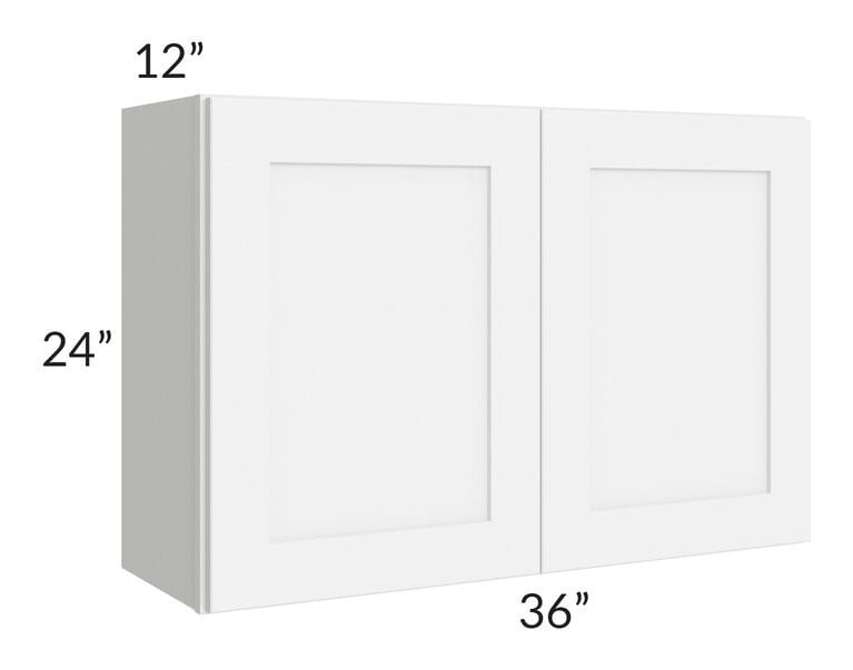 Brilliant White Shaker 36x24 Wall Cabinet