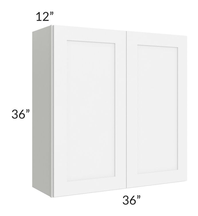 Brilliant White Shaker 36x36 Wall Cabinet