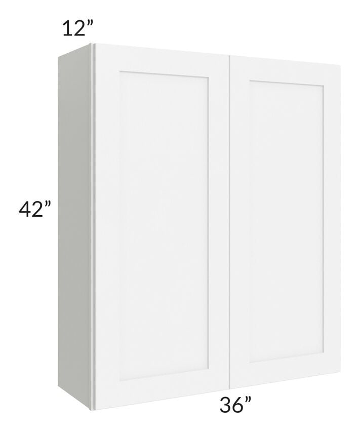 Brilliant White Shaker 36x42 Wall Cabinet