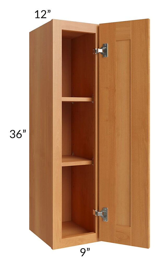 Shaker Honey 09x36 Wall Cabinet