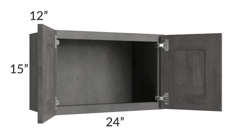 Providence Slate Grey 24x15 Wall Cabinet