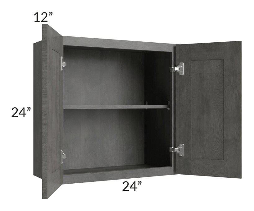 Providence Slate Grey 24x24 Wall Cabinet