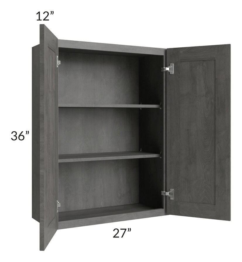 Providence Slate Grey 27x36 Wall Cabinet