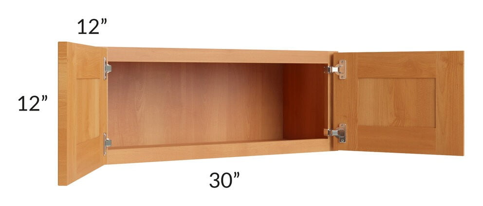 Shaker Honey 30x12 Wall Cabinet