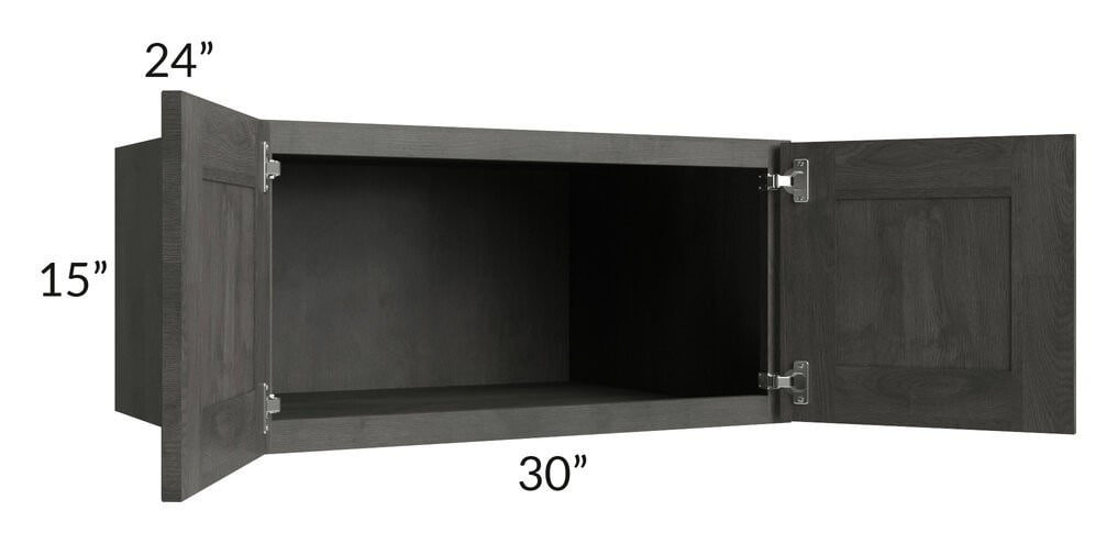 Providence Natural Grey 30x15x24 Wall Cabinet