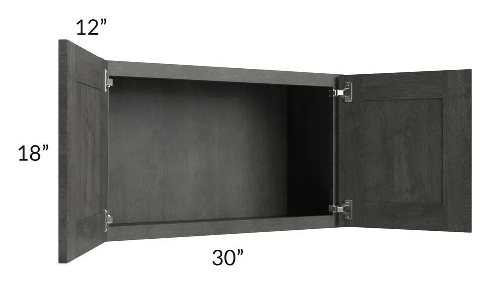 Providence Natural Grey 30x18 Wall Cabinet