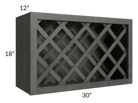 Providence Natural Grey 30x18 Wine Rack Cabinet