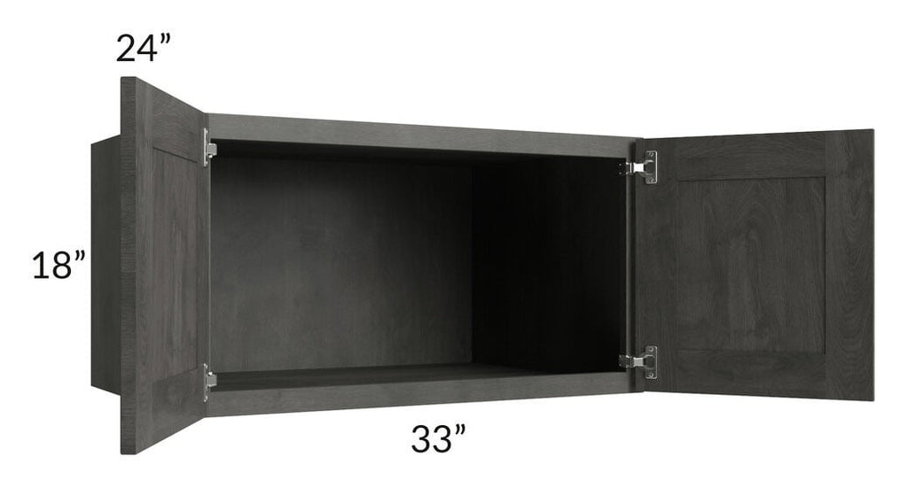 Providence Natural Grey 33x18x24 Wall Cabinet