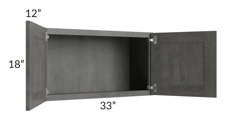 Providence Slate Grey 33x18 Wall Cabinet