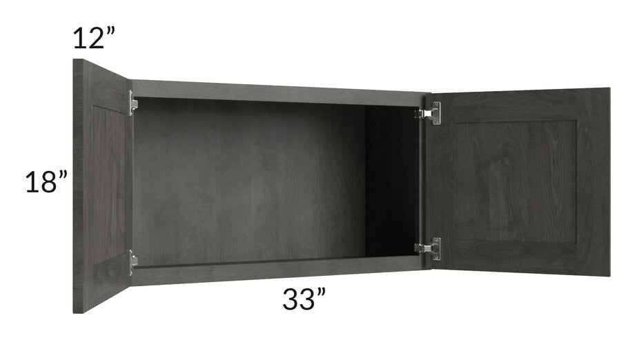 Providence Natural Grey 33x18 Wall Cabinet