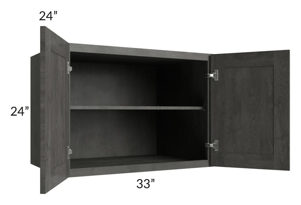 Providence Natural Grey 33x24x24 Wall Cabinet