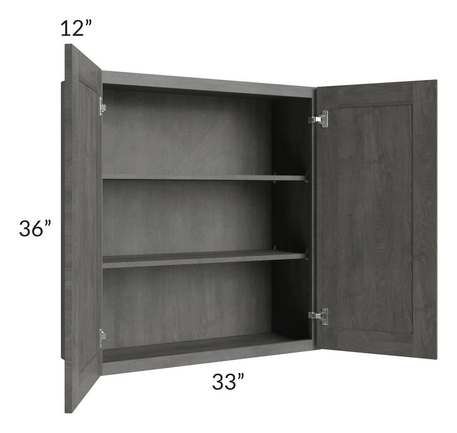 Providence Slate Grey 33x36 Wall Cabinet