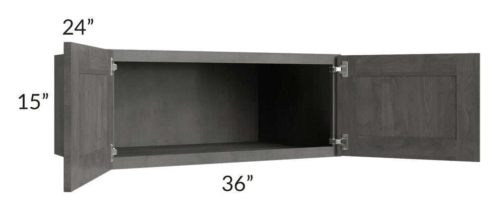 Providence Slate Grey 36x15x24 Wall Cabinet