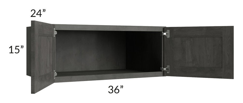 Providence Natural Grey 36x15x24 Wall Cabinet
