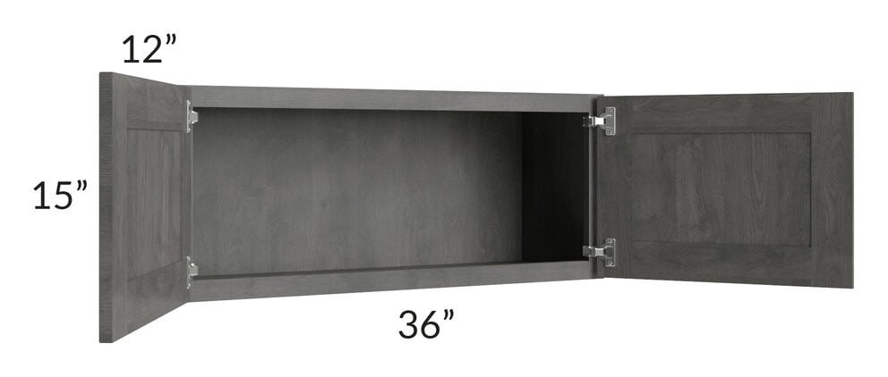 Providence Slate Grey 36x15 Wall Cabinet