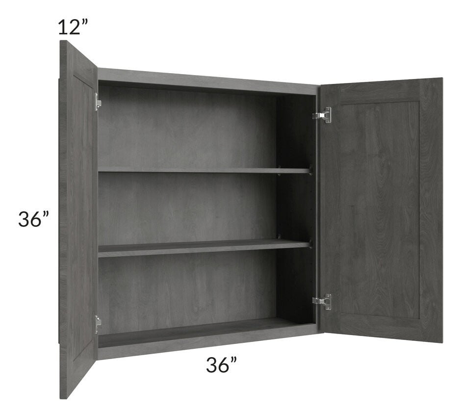 Providence Slate Grey 36x36 Wall Cabinet