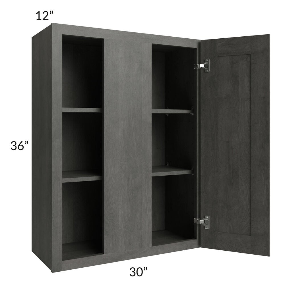 "Providence Natural Grey 30"" Blind Wall Cabinet"