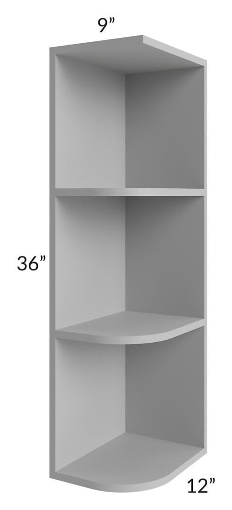 Charlotte Grey 9x36 Wall End Shelf Cabinet