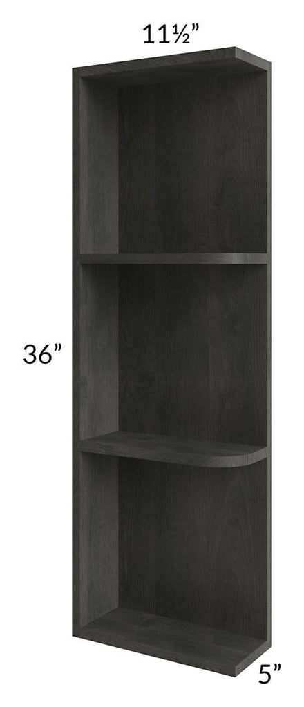 Providence Natural Grey 05x36 Wall End Shelf Cabinet