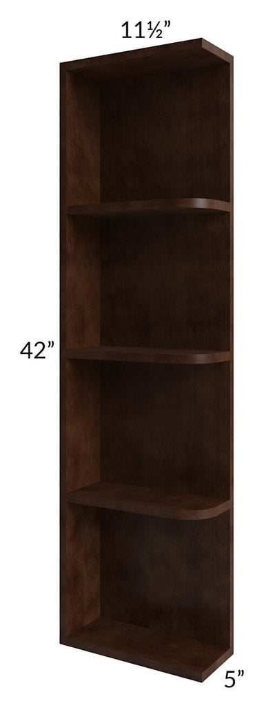 Regency Espresso 05x42 Wall End Shelf Cabinet