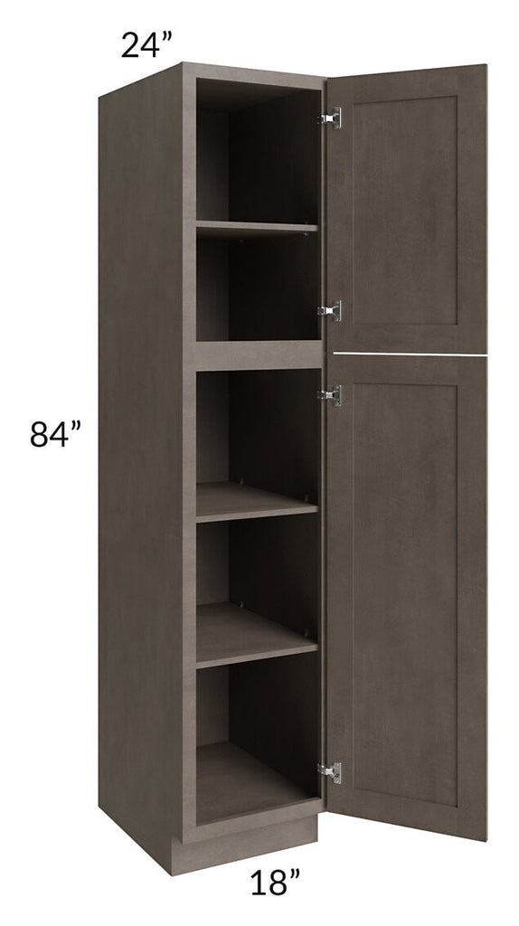 Natural Grey Shaker 18x84 Wall Pantry